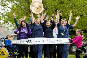 Staff at Queen Alexandria Hospital launch a new partnership with the Great South Run. Picture: Peter Langdown