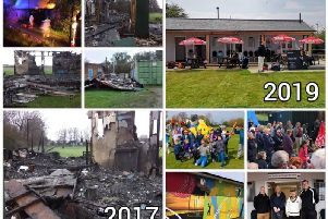 A picture montage showing the devastation of 2017 and the delight of 2019