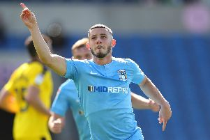 Conor Chaplin makes his return to Fratton Park on Monday. Picture: Catherine Ivill/Getty Images