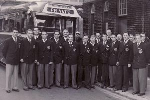 Pompey's 1948-49 Division One title winners prepare for a pre-season tour to Denmark and Sweden in 1949