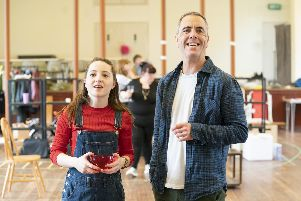 Kirsty MacLaren and James Nesbitt in rehearsal for This Is My Family at The Minerva Theatre, Chichester, April-June 2019. Picture by Johan Persson