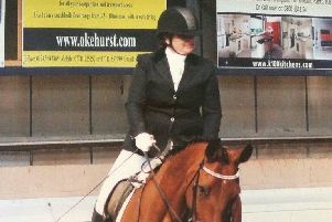 Christina Campbell riding her horse.