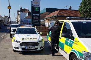 Police at the scene. Photo: Hastings Police/Twitter