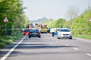 Emergency services on scene on the A27 Pevensey Bypass, photo by Dan Jessup