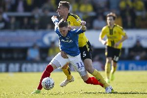 Ronan Curtis made an impact when he came on against Burton. Picture: Daniel Chesterton/phcimages.com