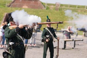 Firearms demonstration by 3rd 95th Rifles.'Picture: Duncan Shepherd