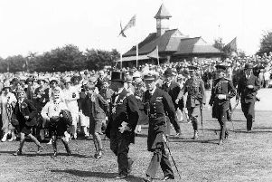 King Edward VIII  at King George V playing fields, Cosham, 1936. Picture: Michael Harris collection.