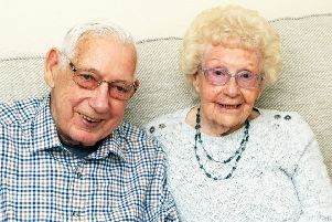 Pat and Ron Wood on their 70th wedding anniversary. Photo by Derek Martin DM1941863a