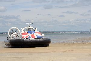 One of Hovertravel's craft, the Solent Flyer. Picture: Sarah Standing (160922-3026)