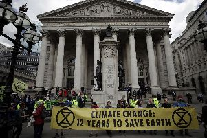 Extinction Rebellion have been holding protests across the capital. Picture: (AP Photo/Matt Dunham)