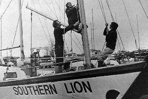 The crew of Southern Lion, from left: Geoff Waight, Fred Shergold and David Charles.