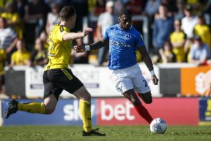 Omar Bogle has not featured since collecting an injury on Good Friday at Burton. Picture: Daniel Chesterton/phcimages.com