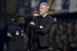 Kenny Jackett watched his Pompey side's automatic promotion ambition ended by defeat to Peterborough tonight. Picture: Robin Jones.