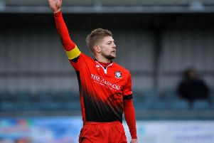 Hassocks captain and leading goalscorer Phil Johnson. Picture by Steve Robards