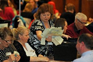 The Portsmouth local election count held inside the Guildhall, Portsmouth. Picture Ian Hargreaves  (180470-1)