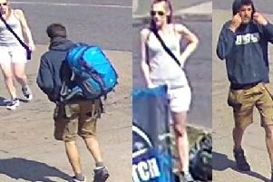 The pair to whom police want to speak about the theft