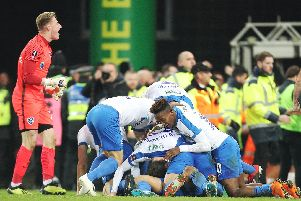 Pompey knocked Championship winners Norwich out of the FA Cup this season. Picture: Joe Pepler
