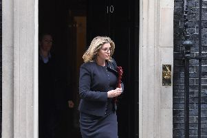 Defence secretary Penny Mordaunt leaves after a cabinet meeting at 10 Downing Street. Picture: Stefan Rousseau/PA Wire