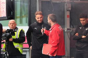Andrew Shinnie interviewed on stage at the weekend