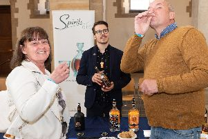Pictured is: Debbie and Peter Callow with Paul from Spirits Elite.''Picture: Keith Woodland (110519-3)