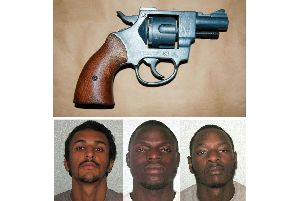 (Left to right) Dean Alford, Michael Karemera and Glodi Wabelua have been jailed in a landmark 'county lines' case. Picture: Met Police