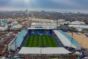 Fratton Park from the sky (Drone shot). Liam Nash Photography