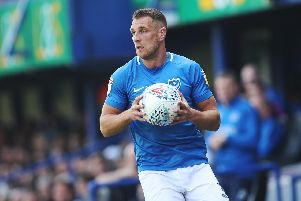 Pompey's Lee Brown. Picture: Joe Pepler