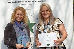 'Primary Academy Teacher of the Year' winner Danielle Storey, left, and Rachel Tucker, who was shortlisted in the 'New Teacher of the Year' category.