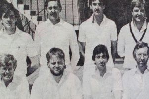Ballymena First XI pictured before their Cup match against Lurgan. 1989