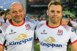 Ulster's Rory Best and Darren Cave