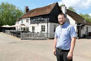 The Globe General Manager Daniel White welcomes guests to the refurbished Globe Inn in Leighton Buzzard