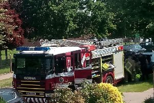 Fire crews in Greenway