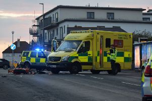 A motorcyclist suffered a broken leg after a collision in Peacehaven on Thursday (May 23). Photo: Dan Jessup SUS-190524-084509001