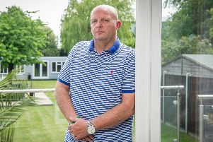 Lee Smith was one of the many victims who was abused by youth football coach Bob Higgins who has now been convicted of indecent assault. Pictured: Lee Smith at his home in Portsmouth. Picture: Habibur Rahman
