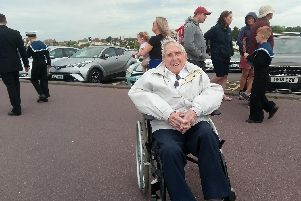 John Clarke, 94, served during the D-Day landings as a crew member on a hospital ship.