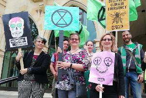 Members of the Northampton branch of Extinction Rebellion attended the meeting