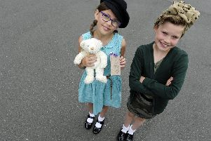 (l to r), Ebony Marshall (eight), Sofia Heywood (nine). Picture: Ian Hargreaves  (040619-7)