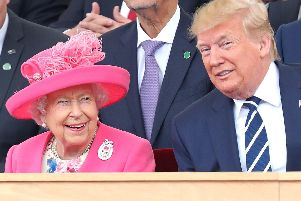 The Queen and US President Donald Trump during the D-Day 75 event on Southsea Common