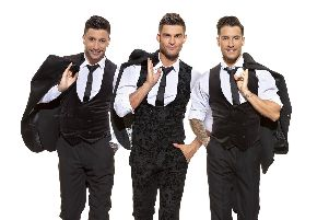 Strictly Come Dancing stars (from left), Giovanni, Alja and Gorka are holding an open dress rehearsal at Portsmouths Guildhall on Thursday, June 13