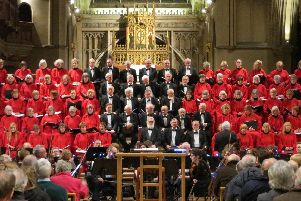 Portsmouth Choral Union performing at St Mary's Church in Fratton, April 2019