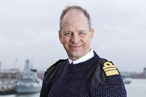 Vice Admiral Jerry Kidd - the first commanding officer of HMS Queen Elizabeth aircraft carrier