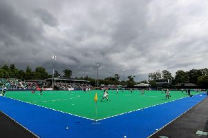 A general vie of the Ireland v Malaysia game at Banbridge