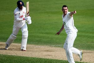 Kyle Abbott picked up six wickets for Hampshire on day one but then rain wrecked hopes of any play on the other three days. Picture: Harry Trump/Getty Images