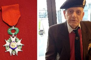 The Legion d Honneur medal and D-Day veteran John Baker