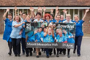 The team of Rowans doctors and nurses who will do the Moonlit Memories Walk