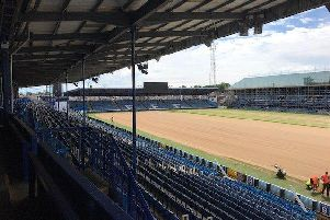 Pompey have applied to play away from Fratton Park on the opening day of the 2019-20 season to enable ground work to continue