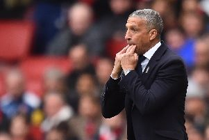 MINORITY: The former Brighton boss Chris Hughton, one of the few BAME managers in football. Picture:  Glyn Kirk/AFP/Getty Images
