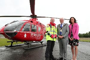 Operational Lead for AANI, Glenn O'Rorke; The Mayor of Lisburn & Castlereagh City Council, Councillor Alan Givan and Head of Fundraising for AANI, Kerry Anderson.