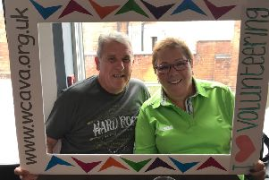 ConnectWELL volunteers Chris Newnham and Lynn Walker.