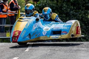 Passenger Jev and driver Pete recorded a new personal best on the famous Isle of Man TT course EMN-190620-135318002